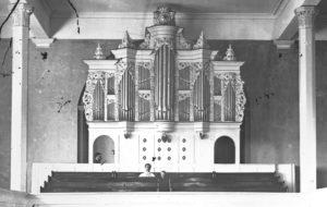 Orgel 1875 / Quelle: Bildarchiv des Bergischen Geschichtsvereins Wermelskirchen