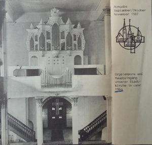 Orgel Stadtkirche 1960