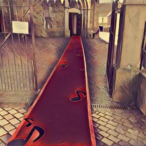 roter Teppich-1 Zeichnung