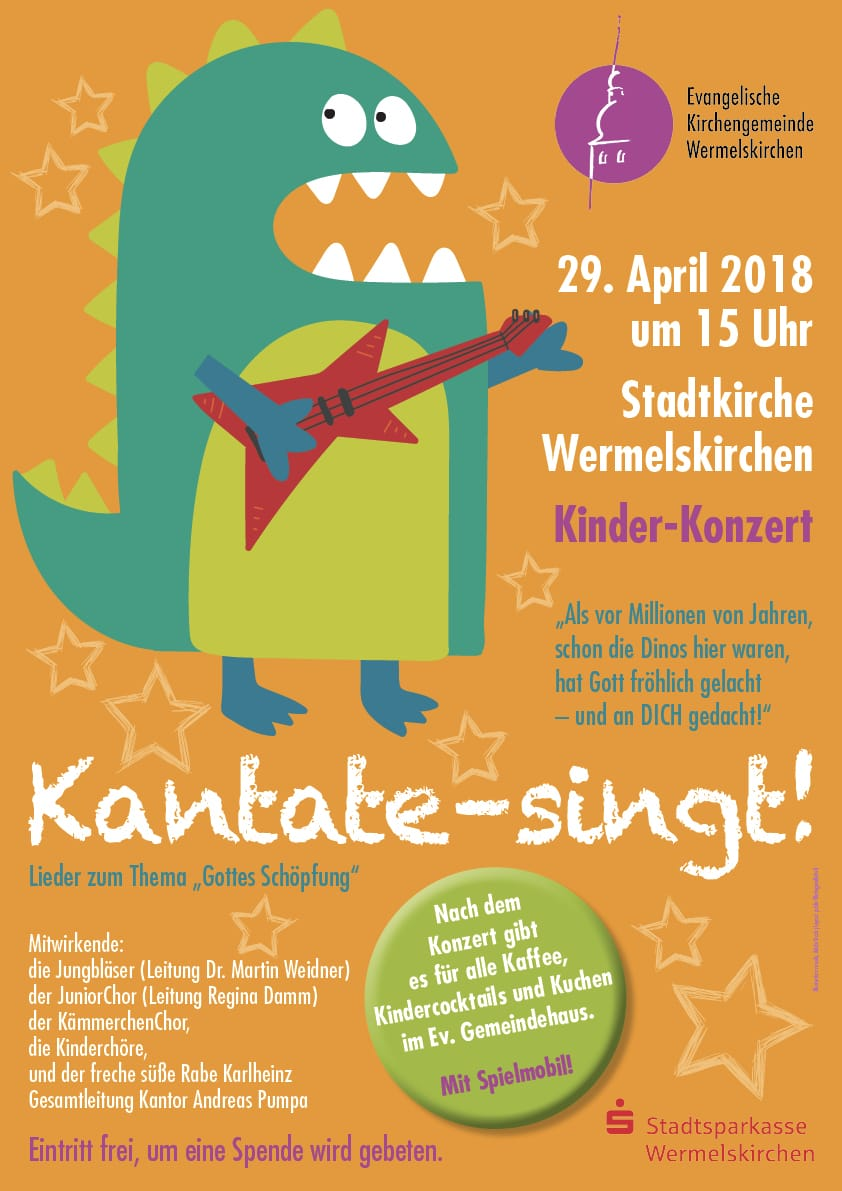 Kinderkonzert KANTATE! am 29.04.2018