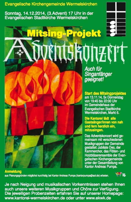Mitsing-Projekt Adventsmusik 2014