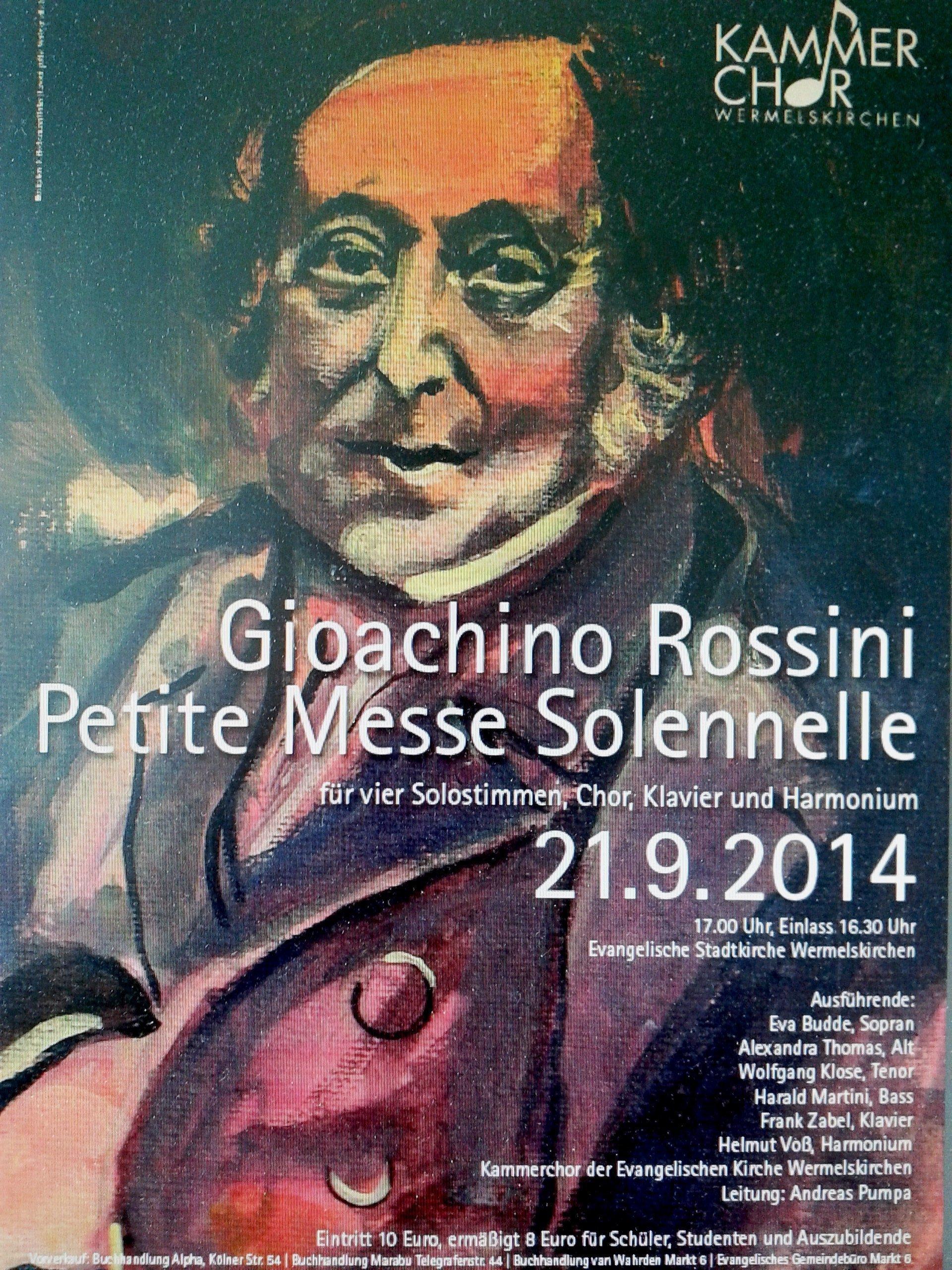 Rossini Messe Kammerchor 2014